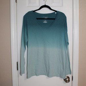 Sonoma Teal Fading Long Sleeve Shirt Sixe 1X